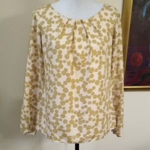 Boden silk blend polka dot blouse, size 4.